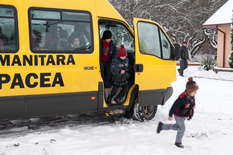 Rumänien: Skolbuss första steget ut ur utanförskap